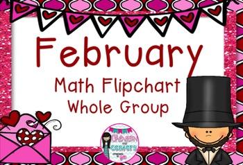 February Whole Group Math Flipchart-FREEBIE