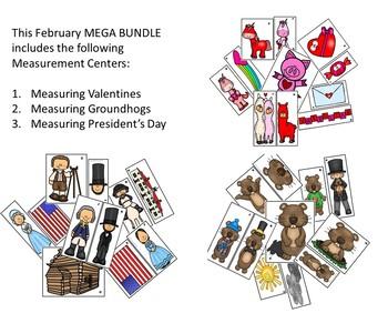 Addition & Subtraction, Graphing, & Measurement February Mega BUNDLE
