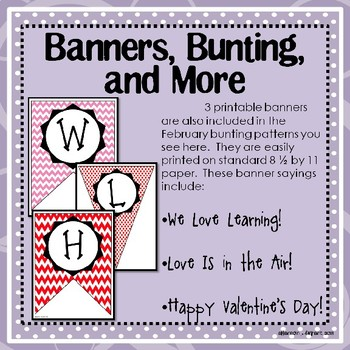 February, Winter, and Valentine's Day Bulletin Board and Writing Printables