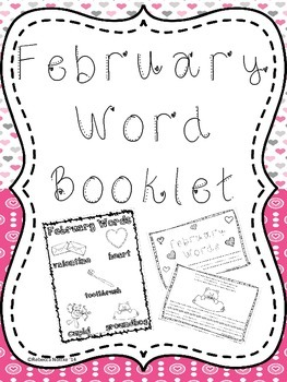 February Word Booklet and Coordinating Poster