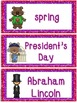 February Word Cards