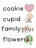 February Word Cards and Word Walls {in English & Spanish}