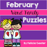 February Word Family Puzzles