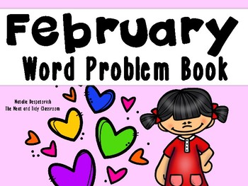February Word Problem Book {First Grade}
