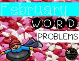 February Word Problems First Grade Addition and Subtraction Warm Ups