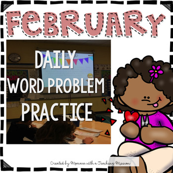 February Word Problem Warm-Ups & Printables 1.OA.1 #resour