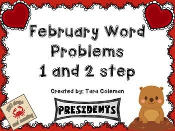 February Word Problems (1 & 2 step)