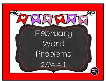 February Word Problems 2.OA.A.1