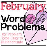 February Word Problems | Valentine's Day Word Problems | Addition & Subtraction