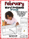 February Word Problems for Second Grade Common Core Aligned