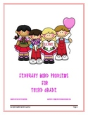 February Word Problems for Third Grade