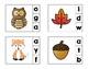 Fall Fun Beginning Sounds Preschool Clip Cards