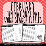 February Word Search Puzzles