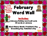 February Word Wall Cards