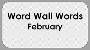 February Word Wall Words
