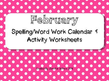 February Word Work Activities
