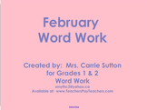 February Word Work: SMARTNotebook