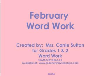 February Word Work: SMARTNotebook