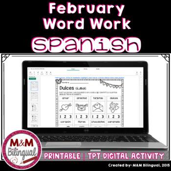 February Word Work {SPANISH}