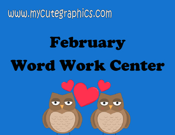 February Word Work and Writing Center