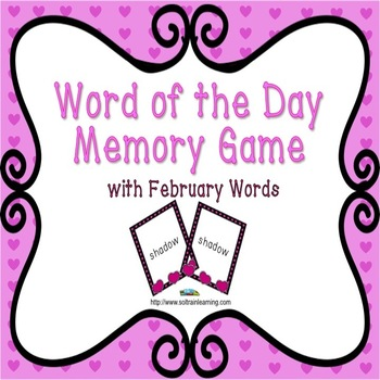 Word of the Day- February Memory Game