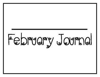 February Sight Word of the Day Journal