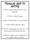 February Work on Writing