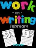 February Work on Writing (EDITABLE)