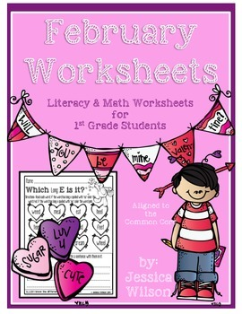 February Worksheets for 1st Aligned to the Common Core