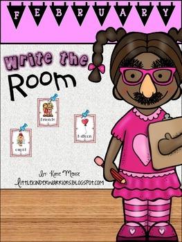 February Write the Room Activities for Kindergarten
