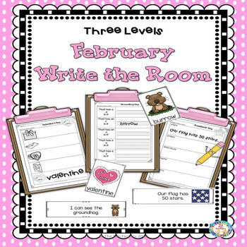 Write the Room Kindergarten - Grade 2 February (Differentiated)
