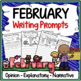 February Writing Prompts {Narrative Writing, Informative & Opinion Writing}