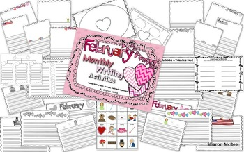 February Writing Activities Bundle: Prompts, Graphic Organizers, Themed Paper