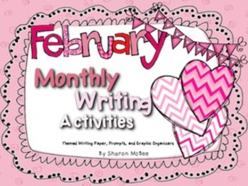 February Writing Activities Bundle: Prompts, Graphic Organ