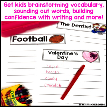 February  Writing Activity: Brainstorming Organizer and List Making Paper