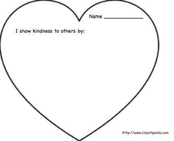 "February Writing Activity: ""I Show Kindness To Others By..."""