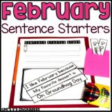February Writing Activity: Interactive Sentence Starters