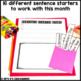 February Writing Activity: Interactive Sentence Starters
