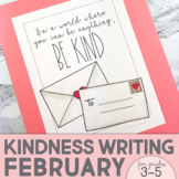 February Writing Activity | Thankful for Kindness Writing