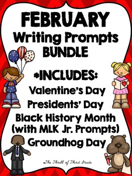 February Writing Prompts BUNDLE