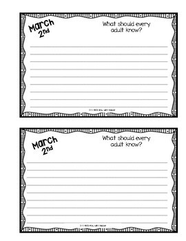March Writing Booklet