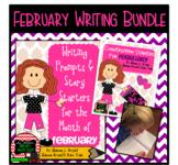February Writing Bundle (Conversation Starters, Morning Meetings, Journals)