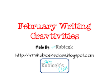 February Writing Craftivities