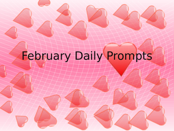 February Writing Daily Prompts - Full Month!