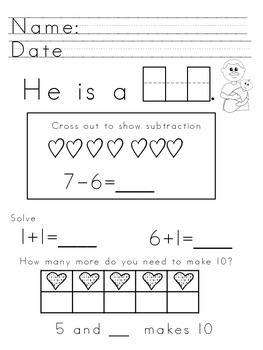 Kindergarten Writing Journal February
