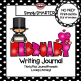February Writing Journal:  NO PREP Journal Prompts