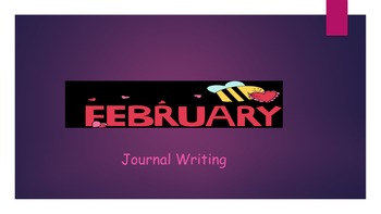 February Writing Journal/ Prompts/ Free writing/ Independent station work