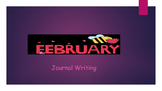 February Writing Journal/ Prompts/ Free writing/ Independe