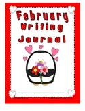 February Writing Journal for 1st and 2nd grade CCSS