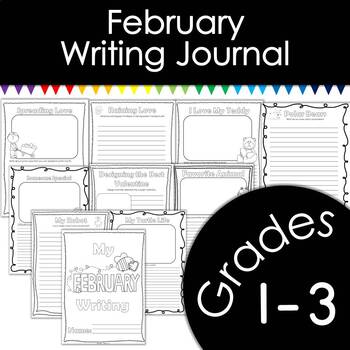 February Writing Journal with Prompts